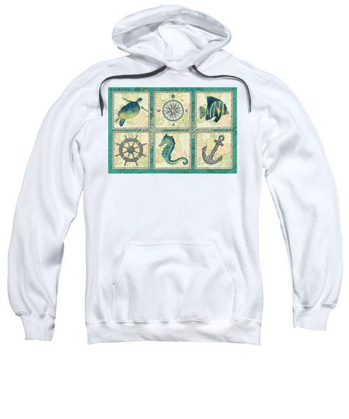 Aqua Maritime Patch Sweatshirt