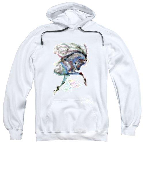 Arabian Horse Trotting In Air Sweatshirt