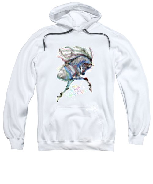 Arabian Horse Trotting In Air Sweatshirt