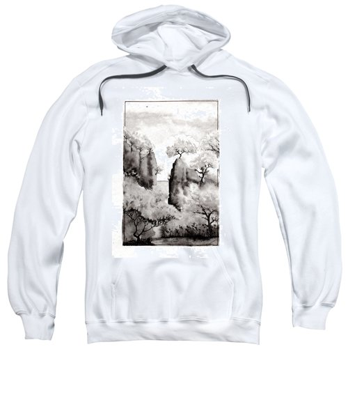 Sweatshirt featuring the painting Arbres Separes by Marc Philippe Joly