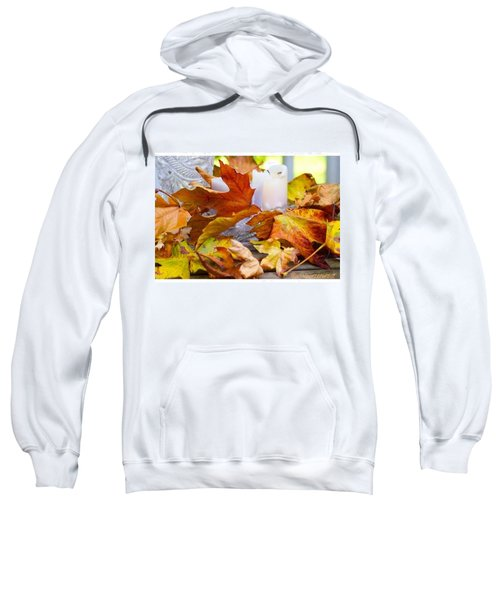Maple Leaves Candles And Crystal Sweatshirt