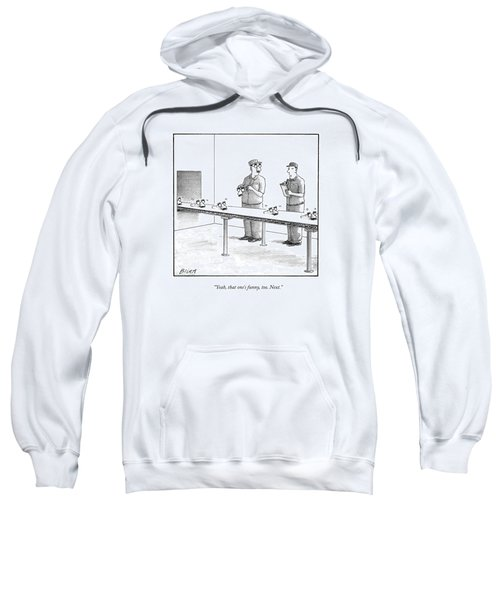 Assembly Line Worker Trying On 'groucho Marx' Sweatshirt