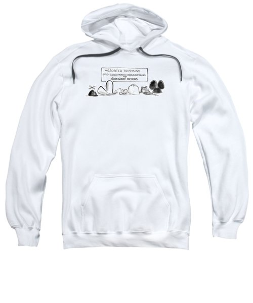 Assorted Toppings The Headgear Collection Sweatshirt by Lee Lorenz