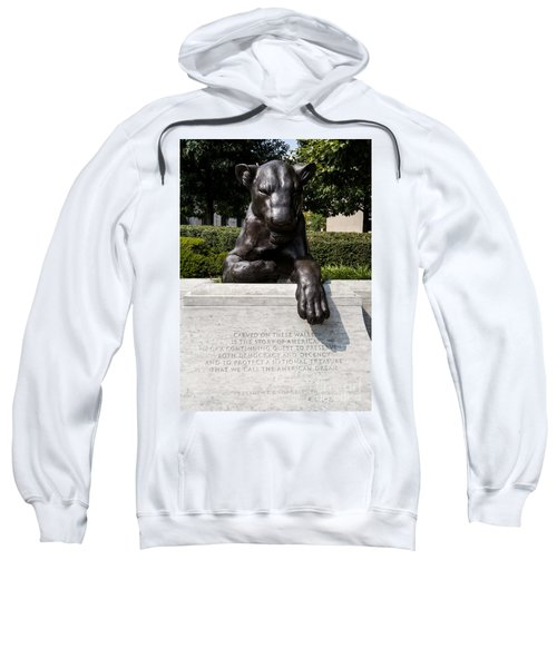 At The National Law Enforcement Officers Memorial In Washington Dc Sweatshirt