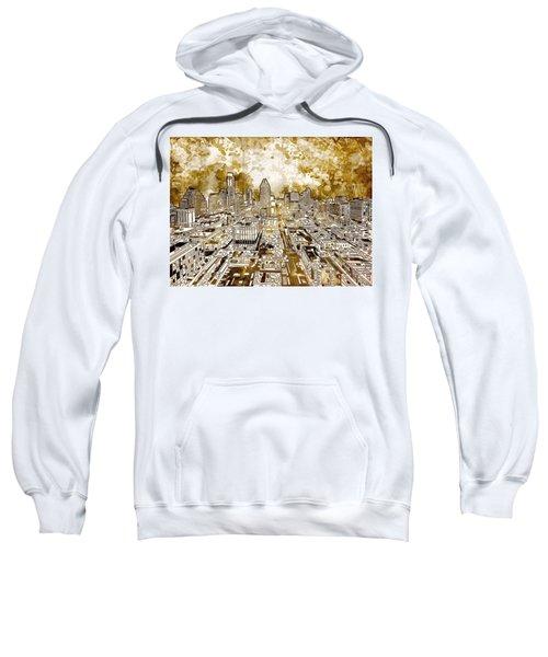 Austin Texas Abstract Panorama 6 Sweatshirt by Bekim Art