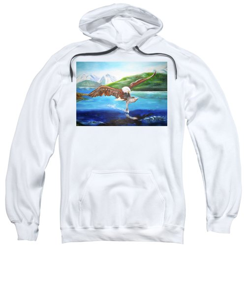 Bald Eagle Having Dinner Sweatshirt