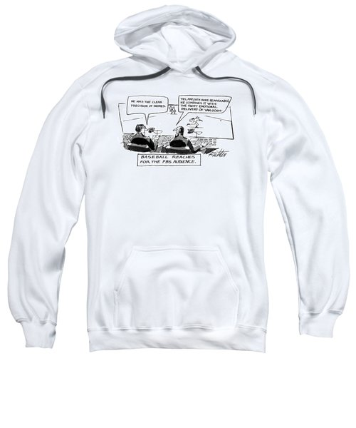 Baseball Reaches For The Pbs Audience: Sweatshirt