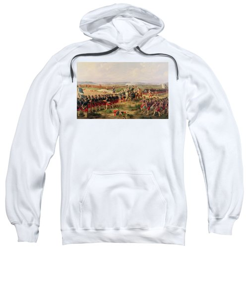 Battle Of Fontenoy, 11 May 1745 The French And Allies Confronting Each Other Sweatshirt