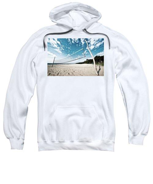 Beach Volleyball Net Sweatshirt