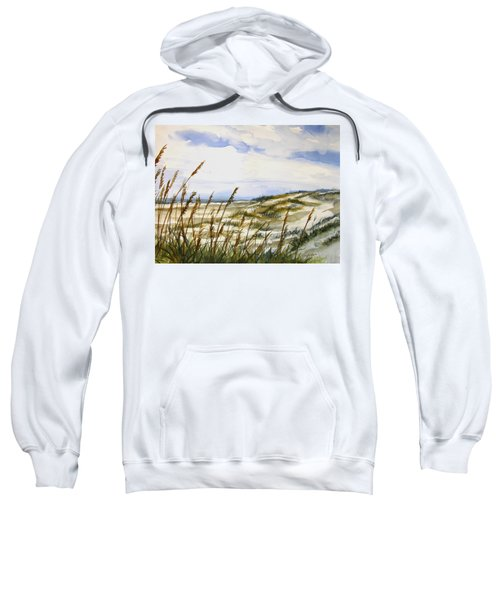 Beach Watercolor 3-19-12 Julianne Felton Sweatshirt