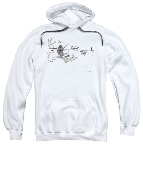 Bears Above The Snowstorm Fish For Humans Trapped Sweatshirt