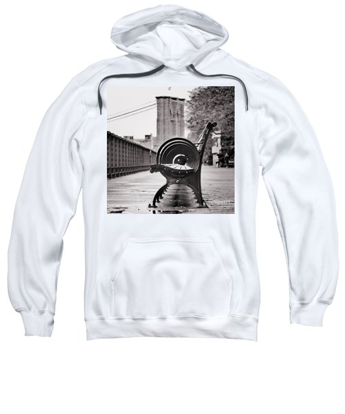 Bench's Circles And Brooklyn Bridge - Brooklyn Heights Promenade - New York City Sweatshirt
