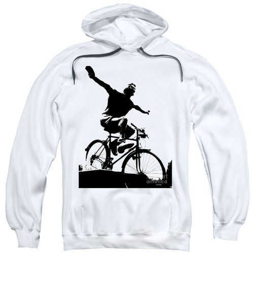Bicycle - Black And White Pixels Sweatshirt