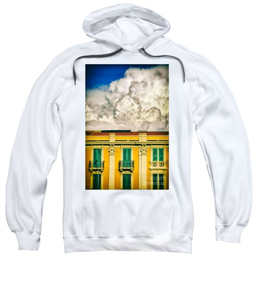 Sweatshirt featuring the photograph Big Cloud Over City Building by Silvia Ganora