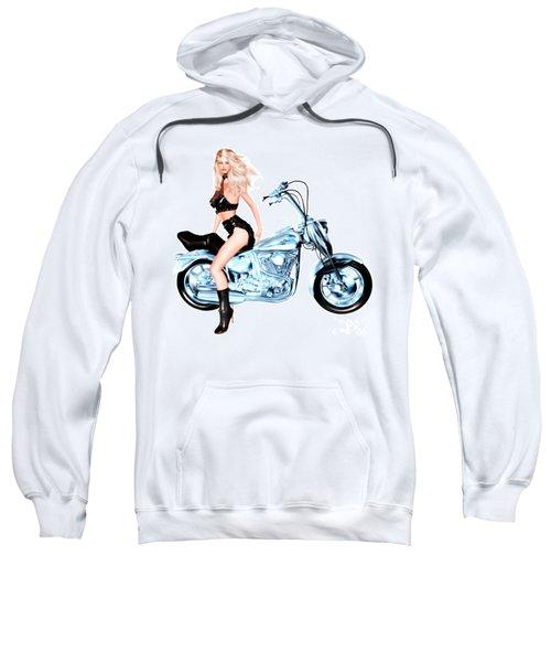Biker Girl Sweatshirt by Renate Janssen