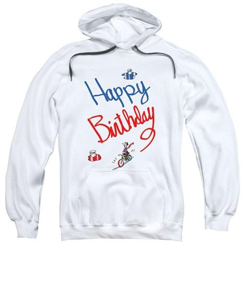 Birthday Bicycle Painter Sweatshirt