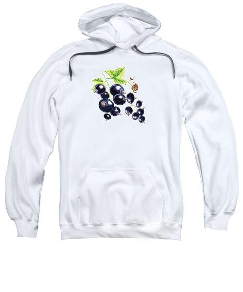 Blackcurrant Berries  Sweatshirt by Irina Sztukowski