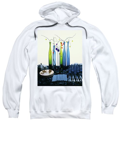 Blenko Glass Bottles Sweatshirt