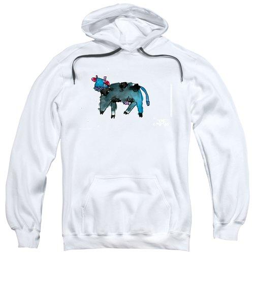 Blue Cow Sweatshirt