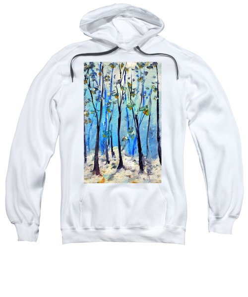 Blue Thoughts In Winter Sweatshirt