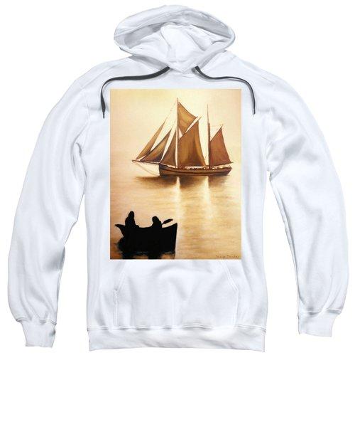 Boats In Sun Light Sweatshirt