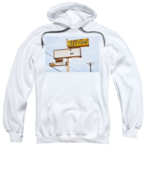 Bombay Beach Abandoned Ski Inn Sweatshirt