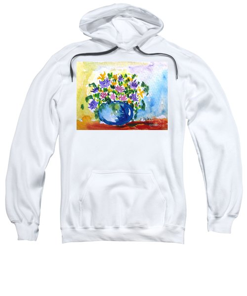 Bouquet Of Flowers In A Vase Sweatshirt