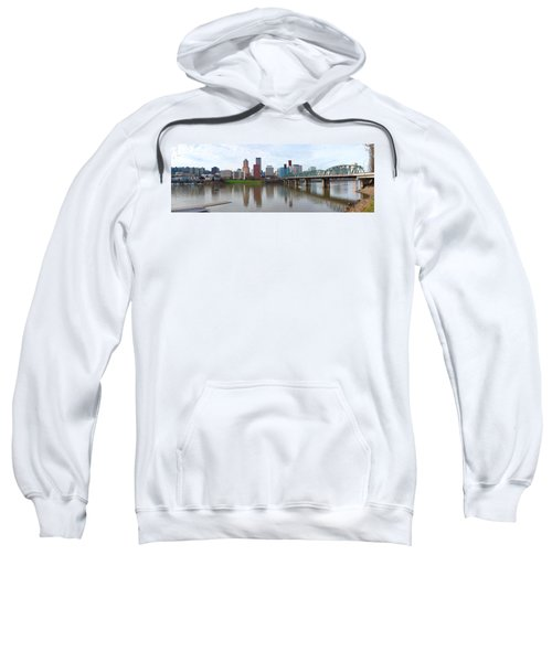 Bridge Across A River With City Skyline Sweatshirt