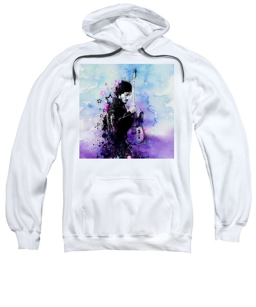 Bruce Springsteen Splats And Guitar 2 Sweatshirt by Bekim Art