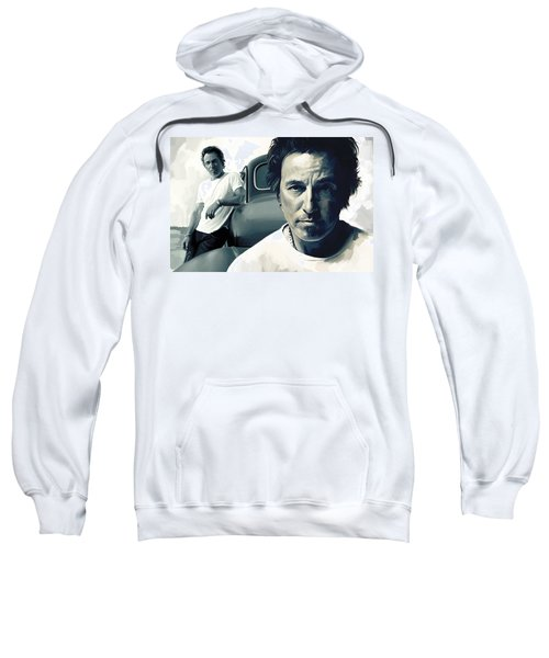 Bruce Springsteen The Boss Artwork 1 Sweatshirt by Sheraz A