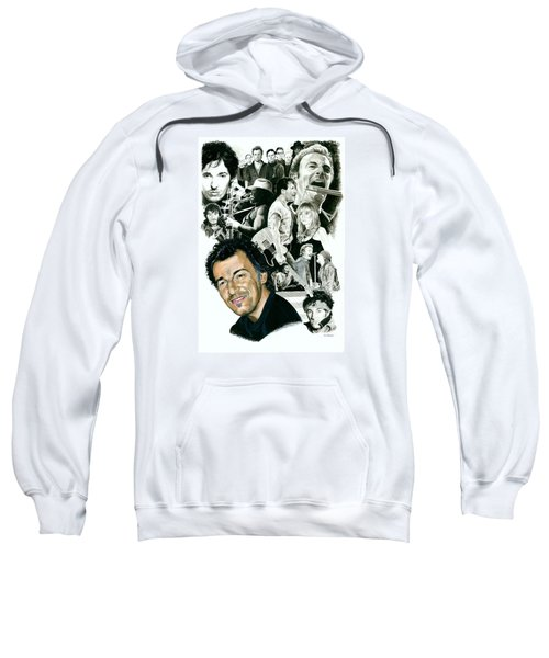 Bruce Springsteen Through The Years Sweatshirt by Ken Branch
