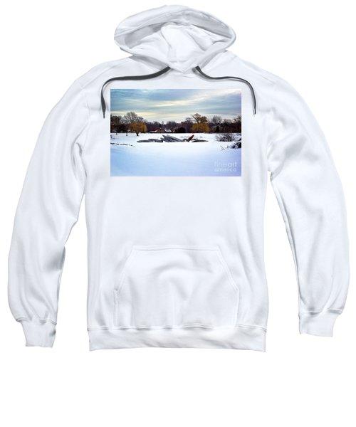 Canoes In The Snow Sweatshirt