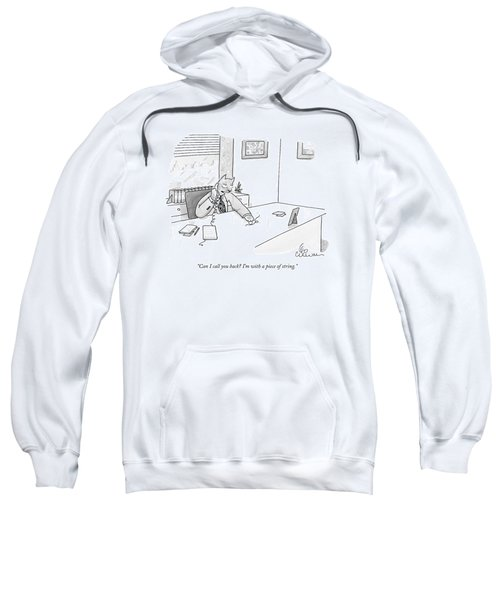Cat Executive On Phone Sweatshirt