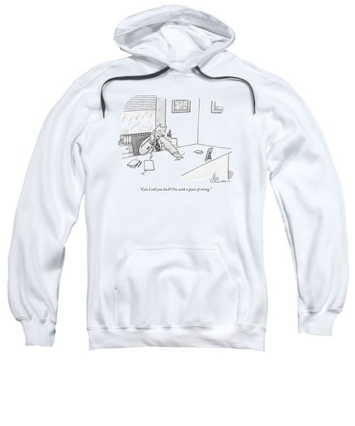 Cat Executive On Phone Sweatshirt