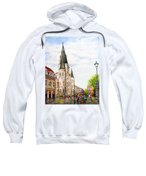 Cathedral Plaza - Jackson Square, French Quarter Sweatshirt