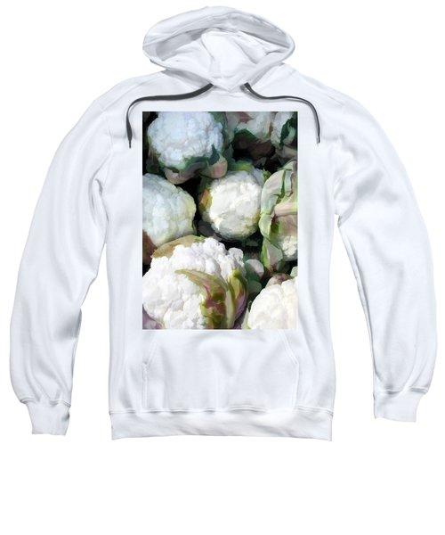 Cauliflower Bouquet Sweatshirt by Elaine Plesser