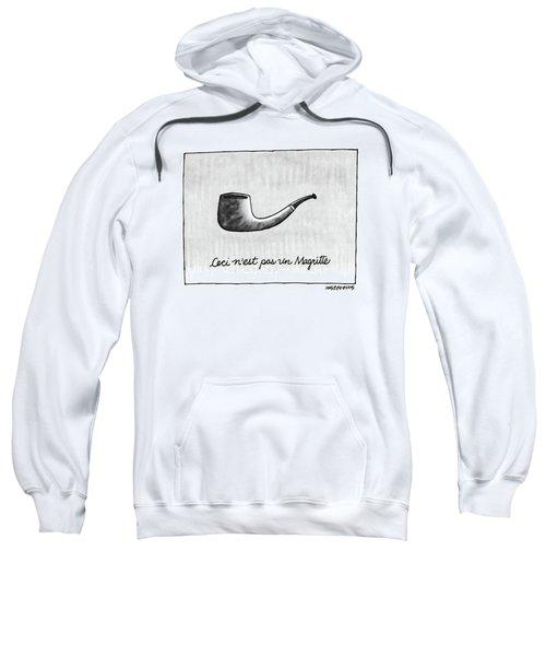 Ceci N'est Pas Un Magritte. Picture Of A Pipe Sweatshirt