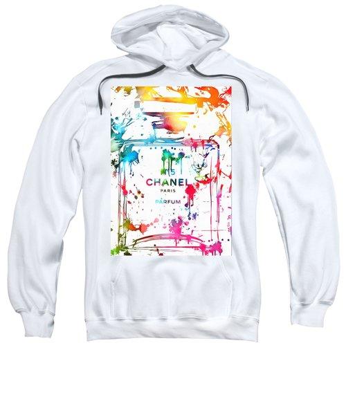 Chanel Number Five Paint Splatter Sweatshirt