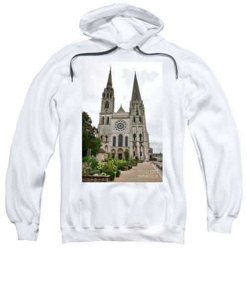 Chartres Cathedral And Esplanade Sweatshirt