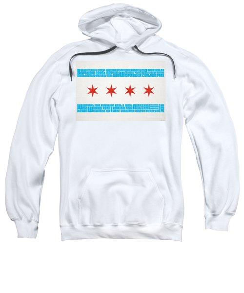 Chicago Flag Neighborhoods Sweatshirt by Mike Maher
