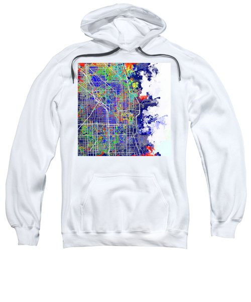Chicago Map Color Splash Sweatshirt