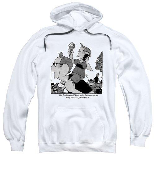 Child On Father's Shoulders Sweatshirt