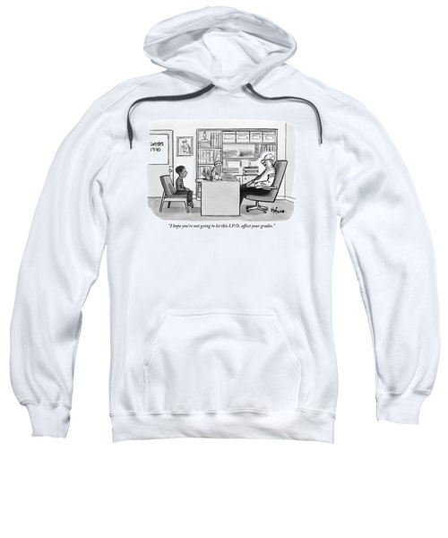 Child Sits Across Desk From Principal Sweatshirt