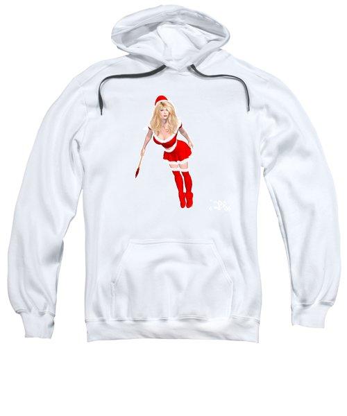 Christmas Elf Elise Sweatshirt by Renate Janssen