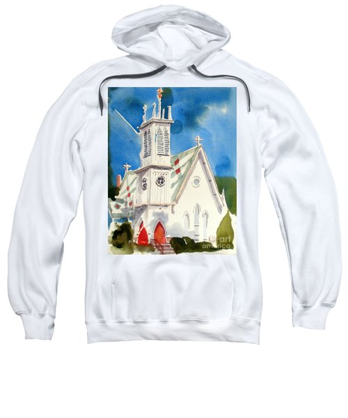 Church With Jet Contrail Sweatshirt