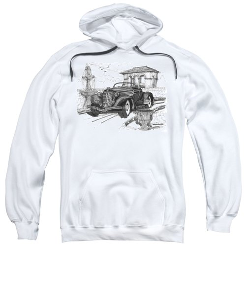 Classic Auto With Formal Gardens Sweatshirt