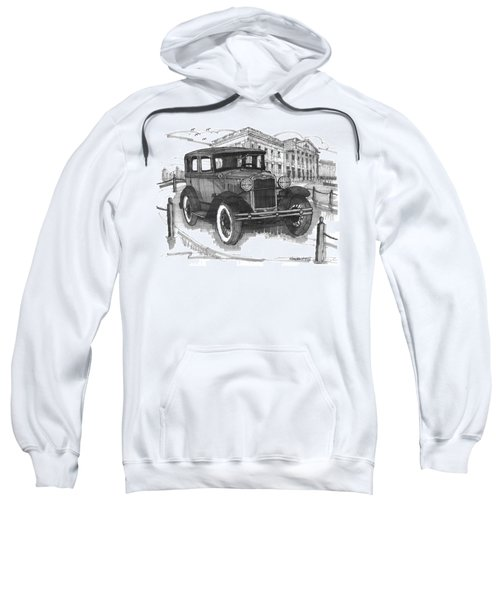 Classic Auto With Mills Mansion Sweatshirt
