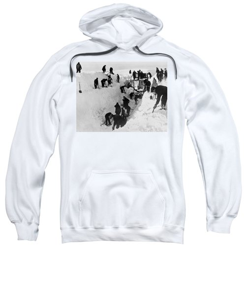 Clearing Snow For Trains Sweatshirt