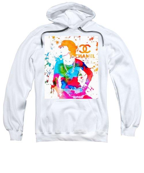 Coco Chanel Paint Splatter Sweatshirt