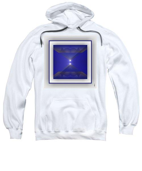 Sweatshirt featuring the digital art Color Light Transparencies by Mihaela Stancu